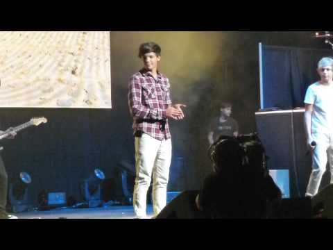One Direction I wish Louis cartwheel fail Ft Lauderdale 7/1