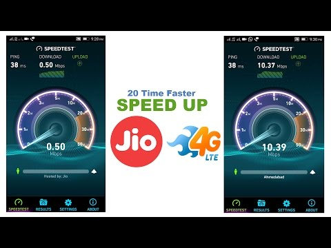 Speed Up Reliance Jio 4G Net up to 10mbps [ with video tutorial
