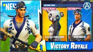 "NOUVEAU ""Sushi Master"" - ""Panda Team Leader"" SKIN Gameplay UPDATE! (Fortnite Battle Royale)"