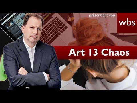 Artikel 13 - Dieses Chaos haben wir jetzt! RA Solmecke