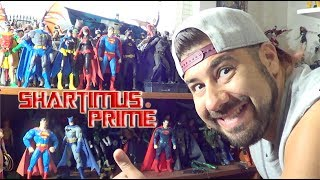 Action Figure Display Cleaning DC Comics Figures and Marvel Shelves Touching Up