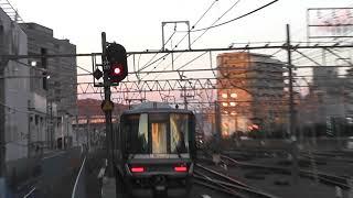 新快速野洲行き223系高槻発車,しかも旧幕風