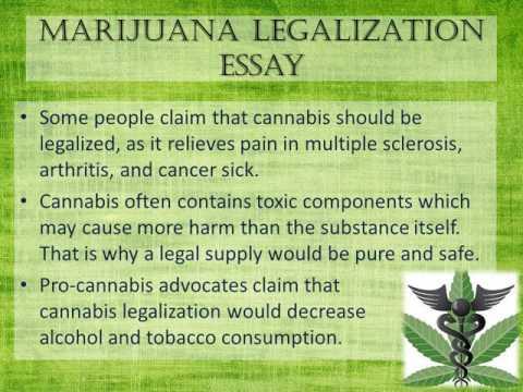 Marijuana Legalization Essay - YouTube