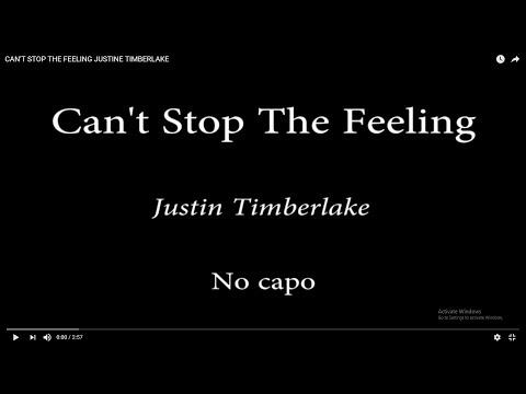 CAN'T STOP THE FEELING - JUSTINE TIMBERLAKE (Easy Chords and Lyrics)