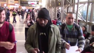 Kanye West Seen Arriving At LAX Airport In Los Angeles