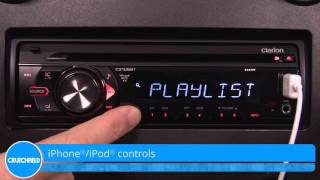 Clarion CZ105BT Display and Controls Demo | Crutchfield Video