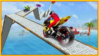 Impossible Motor Bike Stunts 3d #Android GamePlay FHD #Bike Games 3D For Android #Games For Free
