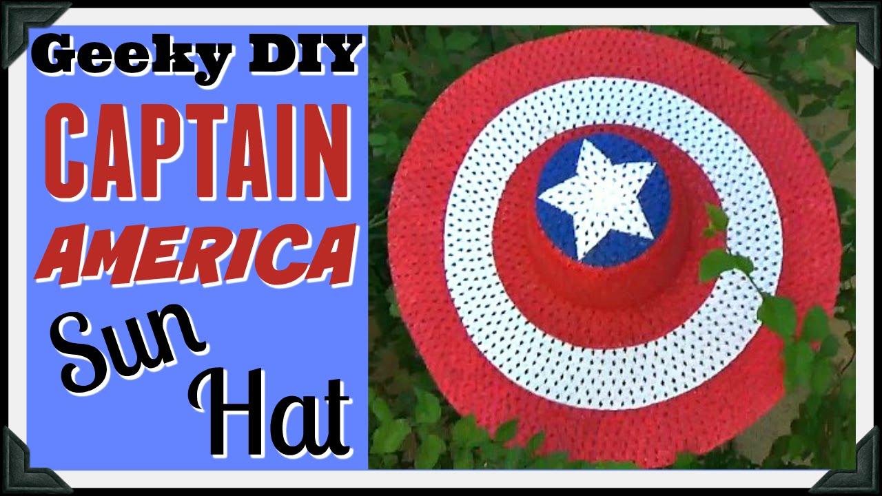 Captain America Sun Hat Geeky Girl Diy Youtube