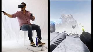 HOVR VR Virtual Reality leg Foot Tracking simulates natural movement