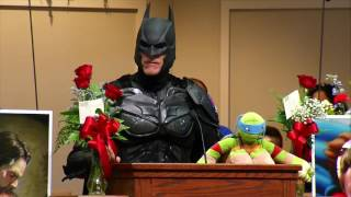 Jacob Hall Funeral | Mourners Don Superhero Costumes for School Shooting Victim