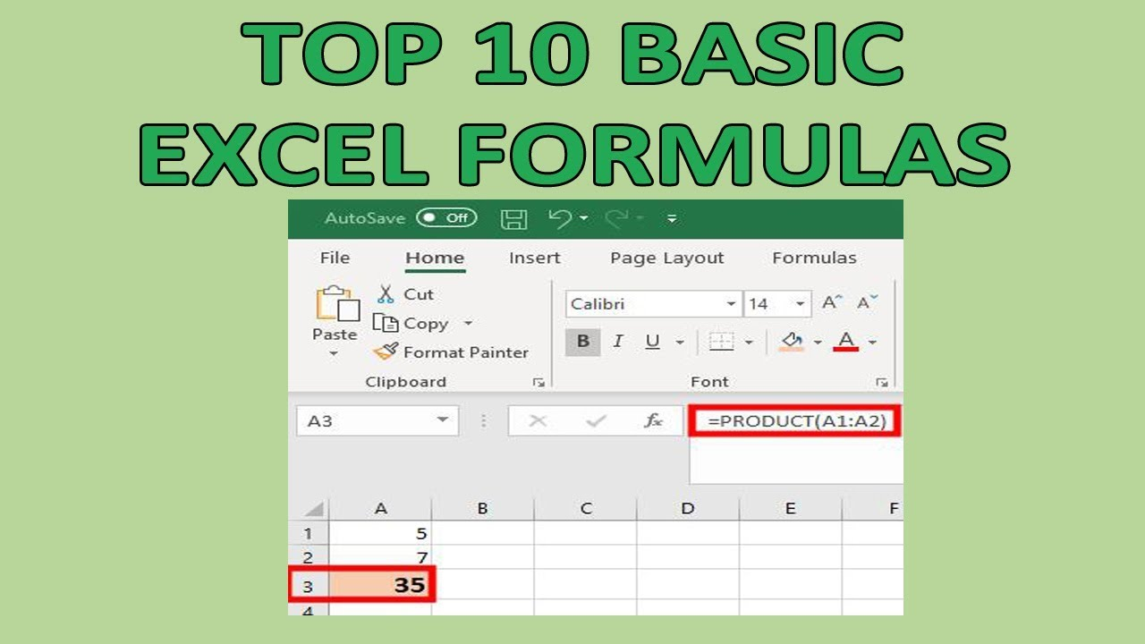 USE BASIC EXCEL FORMULAS – FAST AND EASY – INSPIRED PROFESSIONAL
