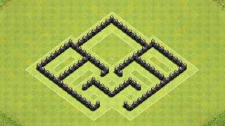 Clash of Clans | TH5 Clan War/Trophy Southern Teaser Base (Speedbuild)