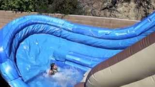 Tree House Waterslide, U-turn Water Slide Rental | Magic Jump Rentals