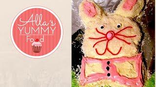 How To Make A Bunny Cake, Easter Cake Recipe - Детский торт Зайчик