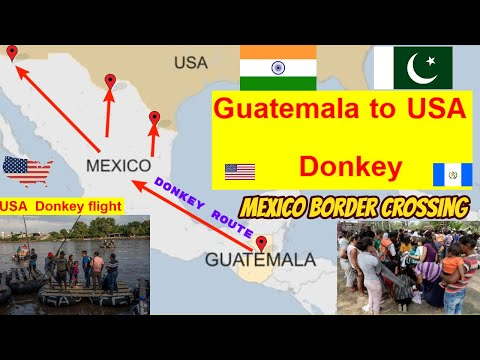 Guatemala to Mexico  |  Guatemala to America by road 2020 |  US-Mexico border.