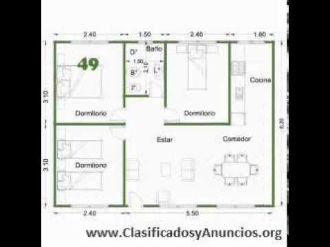 Casas prefabricadas americanas cabanas premoldeada youtube for Vivir en 50 metros cuadrados