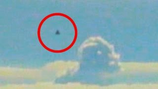 UFO TR-3B Filmed From Plane Window Black Triangle Object!