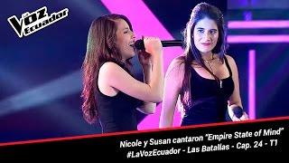 """Nicole y Susan cantaron """"Empire State of Mind"""" - La Voz Ecuador - Batallas - Cap. 24 - T1"""