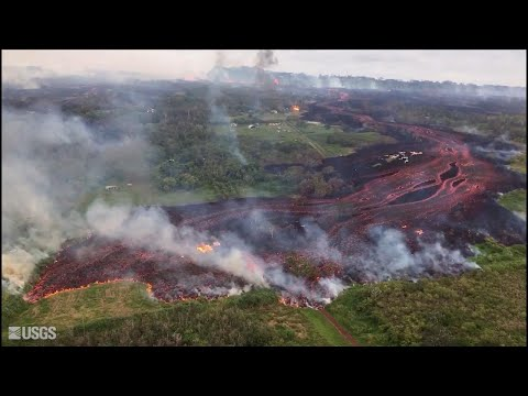 New Footage Shows Unbelievable Hawaiian Lava Flow