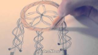 How to draw a dreamcatcher