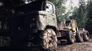 Bieszczadzkie Maszyny / Ciągnik Leśny LKT x 2 / GAZ 4x4 / DerMeisterVid