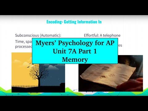 Unit 7A Myers' Psychology for AP - Part 1