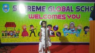Supreme global School conducted Recitation competition for Nursery