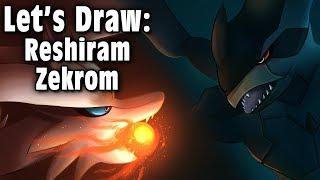 Let's Draw: Reshiram and Zekrom