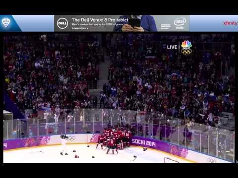 Marie-Philip Poulin OT Goal vs USA for Gold Medal