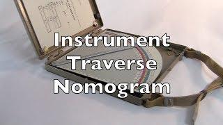 instrument Traverse Nomogram (номограмма инструментального хода) Review / HowTo