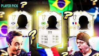 OMFG MY ICON PLAYER PICK WAS INSANE, WHO DO I PICK!!! - FIFA 21 PACK OPENING