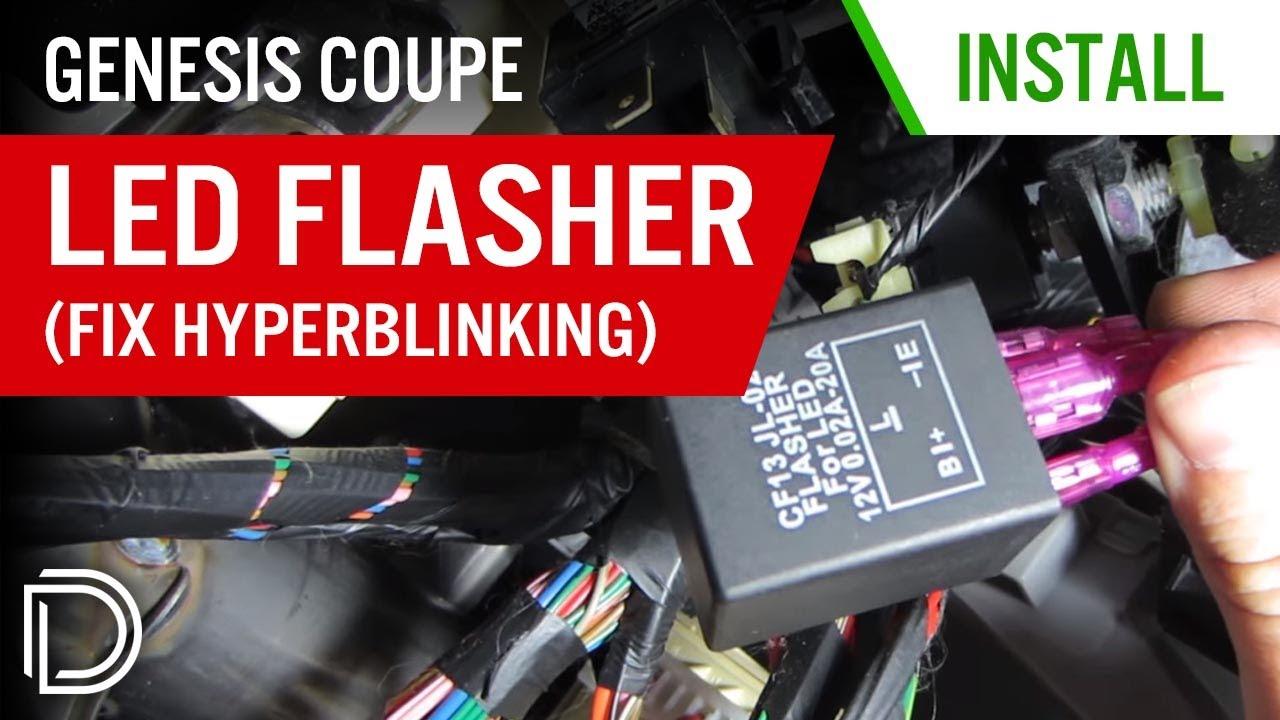 Genesis Coupe LED Flasher Installation (fix hyperblinking)  YouTube