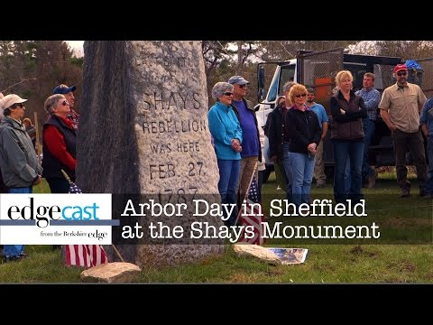 Arbor Day in Sheffield, MA at Shays Rebellion Monument