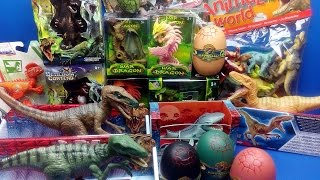 Dinosaurs JURASSIC WORLD - Dinosaur Eggs and Dragon Toys -Velociraptor Surprise Toys Kids Video