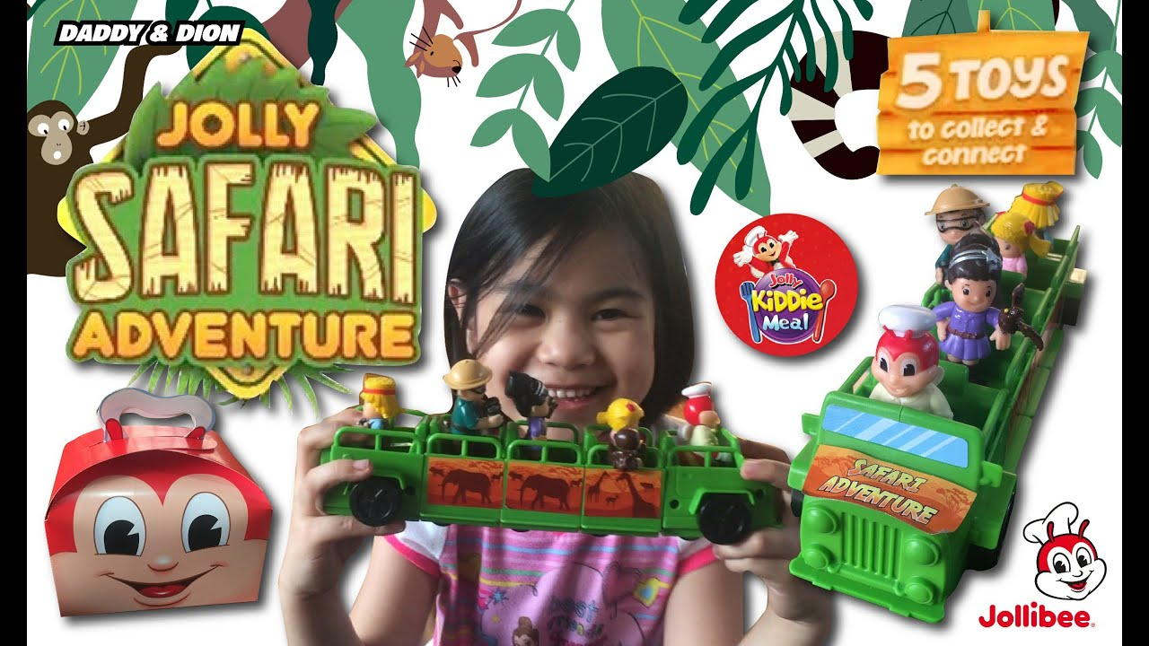 2021 Jolly Safari Adventure Jollibee Kiddie Meal Complete Set Of 5 Toys Youtube