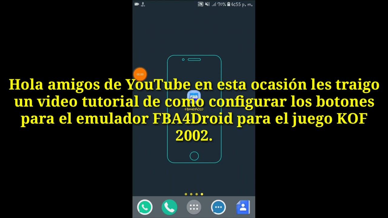 Como configurar los botones para KOF 2002 para android 2018/Configurar  emulador FBA4Droid KOF 2002