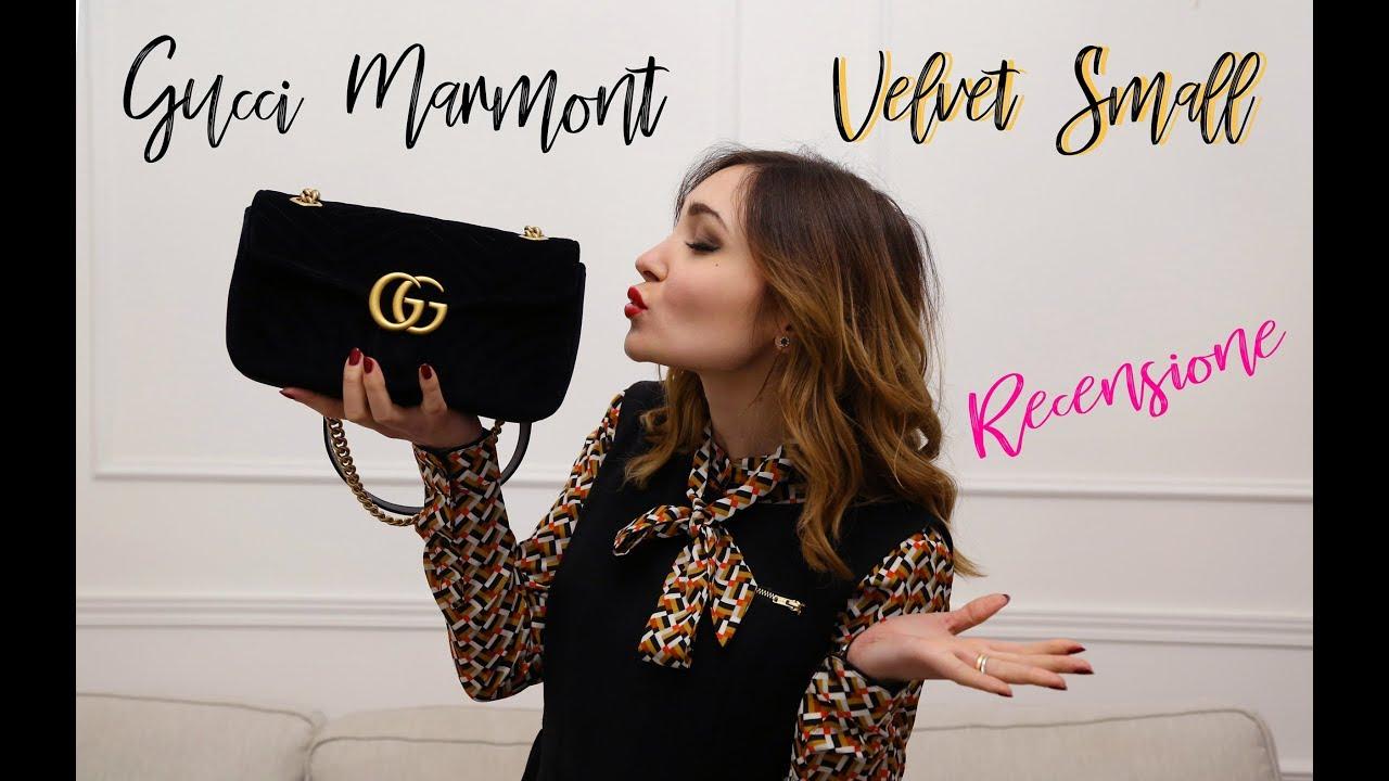 Recensione Gucci Marmont Velvet Small