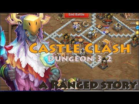 CASTLE CLASH DUNGEON 3.2 [5 RANGE HEROES]