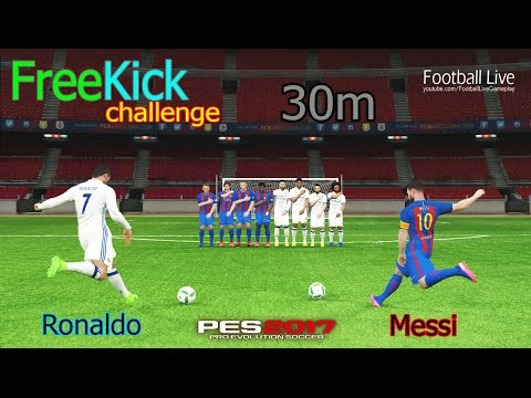 PES 2017 | Free Kick Challenge from 30m | RONALDO vs MESSI #1