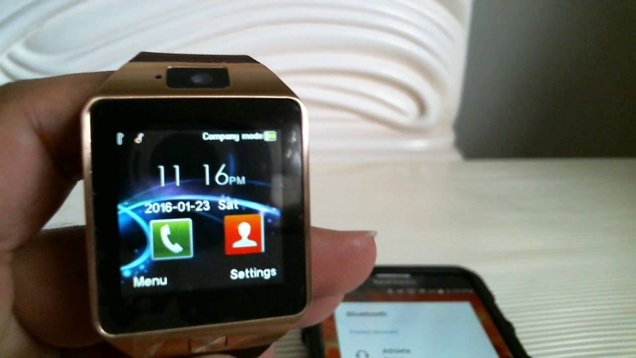 How To Pair Dz09 Smart Watch To Samsung Android Phone