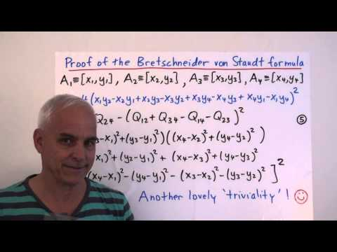 MathFoundations132: The Bretschneider von Staudt formula for the quadrea of a quadrilateral