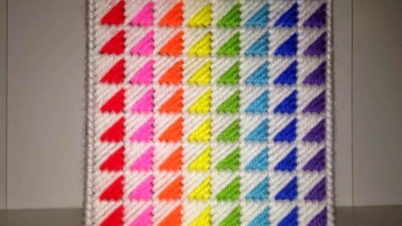 Pattern Design Using Plastic Canvas Youtube