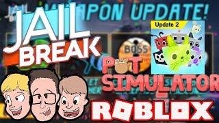 *NEW UPDATE* JAILBREAK & PET SIMULATOR GAMEPLAY* | Family Friendly Gaming | Roblox Live Stream