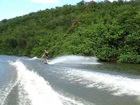 James Banks Wake Skate On Kauai, Hawaii - Wailua River -
