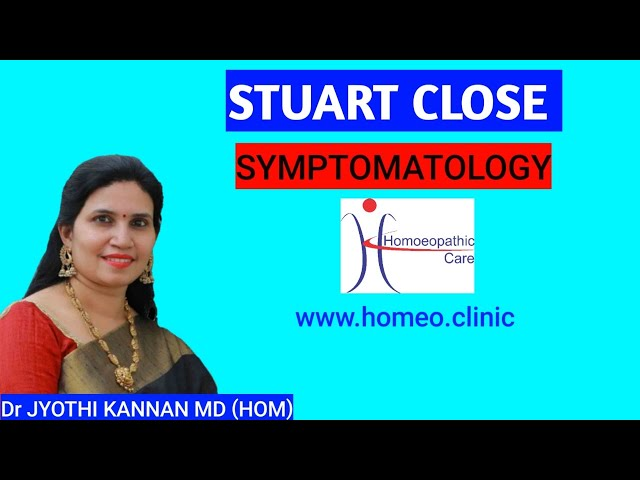 STUART CLOSE- Symptomatology