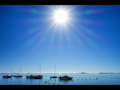 Sunny Beach at Los Alcazares, Mar Menor, Murcia, Spain