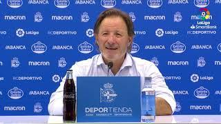 Rueda de prensa de Juan Antonio Anquela tras el RC Deportivo vs CD Numancia (3-3)