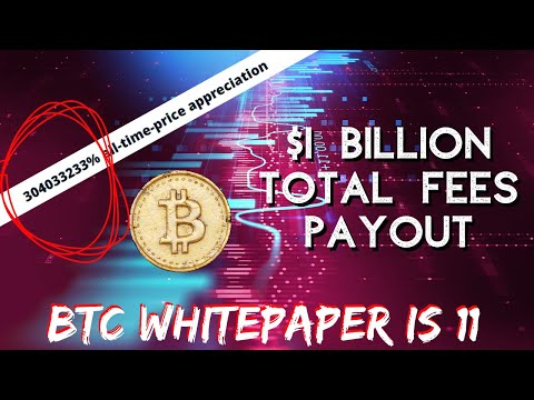 BTC HITS 1 BILLION TRANSACTION FEE | Bitcoin Whitepaper Birthday | China Blockchain |  Bitcoin News
