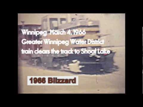 Winnipeg March 1966 blizzard - GWWD train