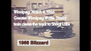 Winnipeg March 1966 Blizzard - Gwwd Train